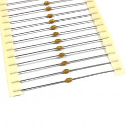 CERAMIC CAP AXIAL 50V 0.1UF 10PCS/PKG