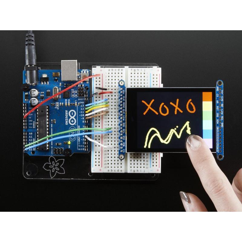 """2.8"""" TFT LCD W/ CAP TOUCH BREAKOUT BOARD W/MicroSD SOCKET"""
