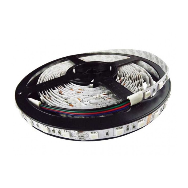 LED STRIP, 5050, 12V, W/O SILICON, RGB