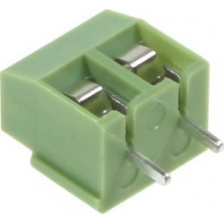 TERMINAL BLOCK GREEN 5.0MM PITCH DT-126VP-2P PKG/5