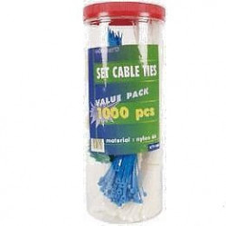 CABLE TIES, ASSORTED IN CAN, 1000PCS