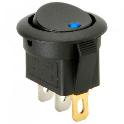 ROCKER SWITCH W/12VDC LIGHT