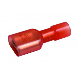 QUICK CONNECTORS RED FEMALE INSULATED 10PCS