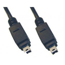 FIREWIRE CABLE, IEEE1394, 4P/4P, 1.8M