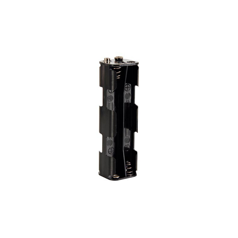 BATTERY HOLDER, AAx8, w/9V CLIP