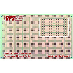 POWERBOARD-3U POWER BUSES, 6 HOLE STRIPS, 1 SIDED 160X100MM