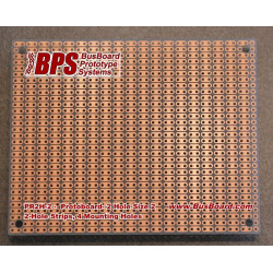 PROTOBOARD2H-2 2 HOLE STRIPS, 1 SIDED, 100X80MM