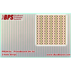 PROTOBOARD2H-3U 2 HOLE STRIPS, 1 SIDED, 160X100MM