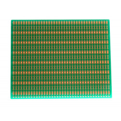 BUSBOARD-2 ZIG-ZAG TRACKS, 100X80MM, 1 SIDED, SOLDERMASK