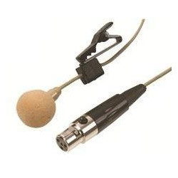 MICROPHONE, CLIP ON LAVALIER, MINI XLR, BEIGE