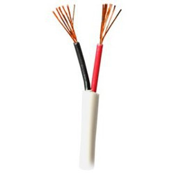 CABLE, PVC JACKETED 2X22AWG WHITE 2464 FT1 UL AWM - PER FOOT