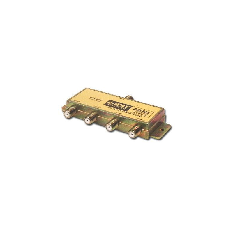 TV SPLITTER 4-WAY PASSIVE 2GHZ