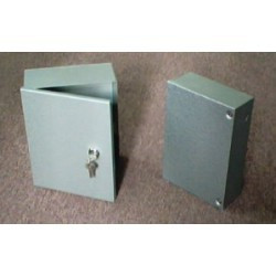 ENCLOSURE, ALARM BOX W/KEY, 285HX210WX100D