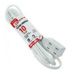 POWER EXTENSION CORD, 2 PRONG, 10FT