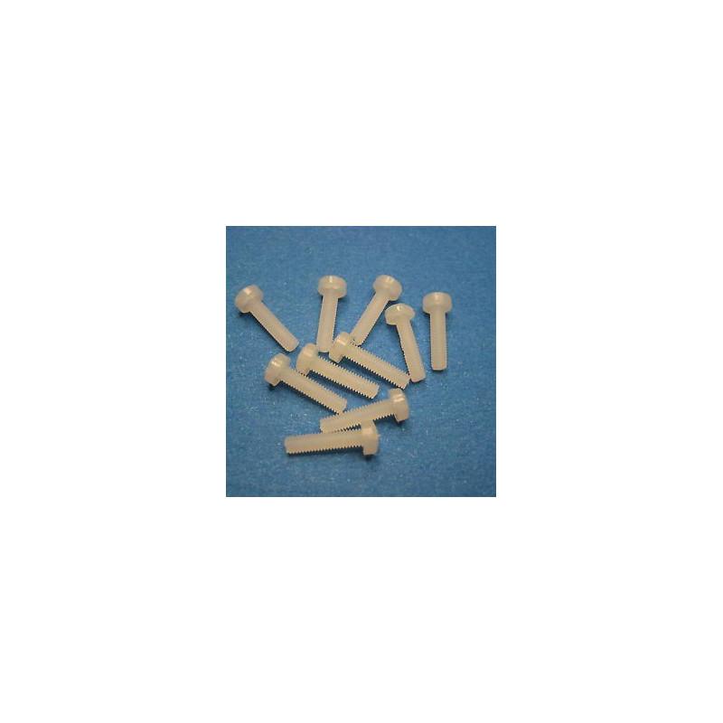 SCREW NYLON PLASTIC M3 12MM 10PCS