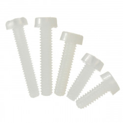 SCREW NYLON PLASTIC M3 25MM 10PCS