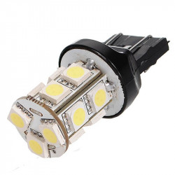 LED AUTO LAMP, T20-5050-13SMD, WHITE 4500K, 12V
