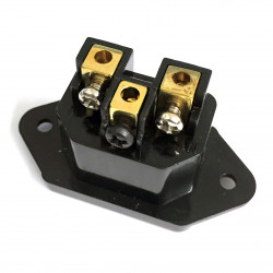 AUDIO GRADE IEC POWER SOCKET PANEL MOUNTED W/SCREW TERMINAL