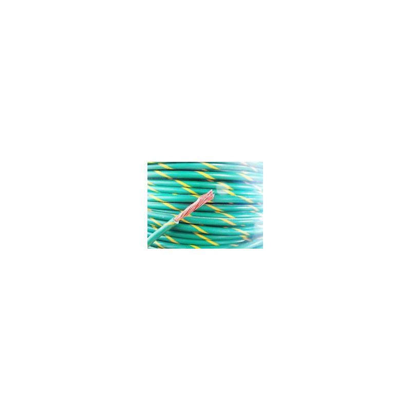 GROUND WIRE YELLOW/GREEN STRIPE 18AWG