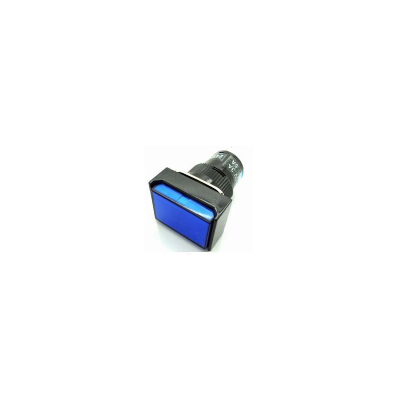 PUSH BUTTON SR33R21 W/12V LAMP MOM (BLUE)