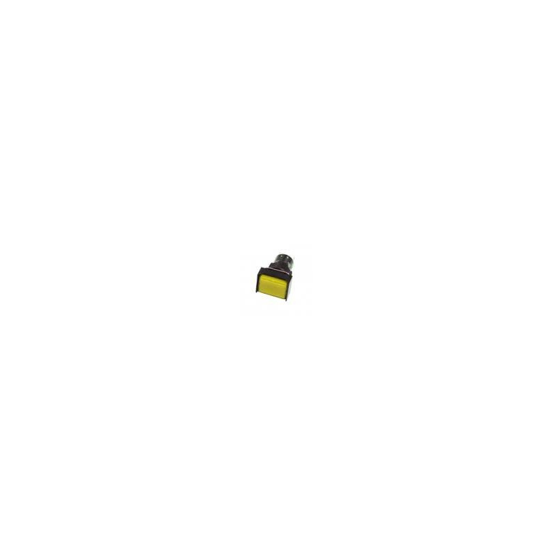 PUSH BUTTON SR33R21 W/12V LAMP MOM (YELLOW)