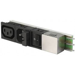ROCKER SWITCH W/ IEC SOCKET AND FUSE HOLDER (SCHURTER)