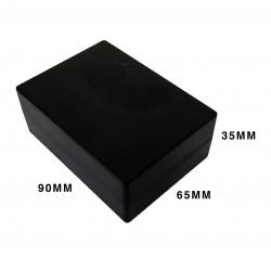ENCLOSURE, PLASTIC BOX BLACK 90X35X65MM