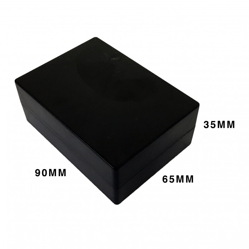 ENCLOSURE, PLASTIC BOX BLACK 90X35X65MM