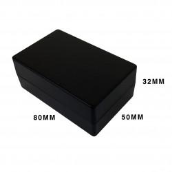 ENCLOSURE, PLASTIC BOX BLACK 78X48X30MM