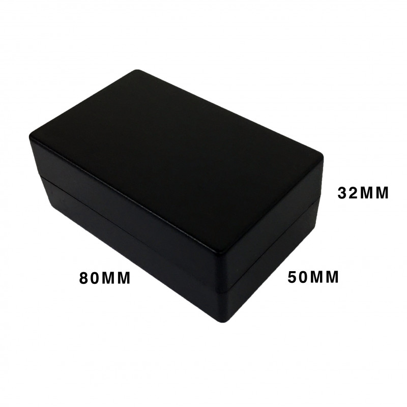 ENCLOSURE, PLASTIC BOX BLACK 78X48X30MM