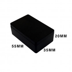 ENCLOSURE, PLASTIC BOX 60X35X20MM BLACK