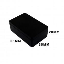 ENCLOSURE, PLASTIC BOX 60X35X20MM BLACK