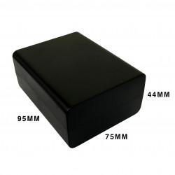 ENCLOSURE, PLASTIC BOX BLACK 94X74X43MM