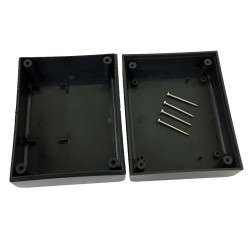 ENCLOSURE, PLASTIC BOX BLACK 94X74X43MM