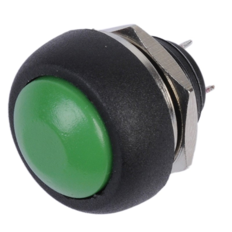 PUSH BUTTON IP67 WATERPROOF MOMENTARY GREEN GQ12B