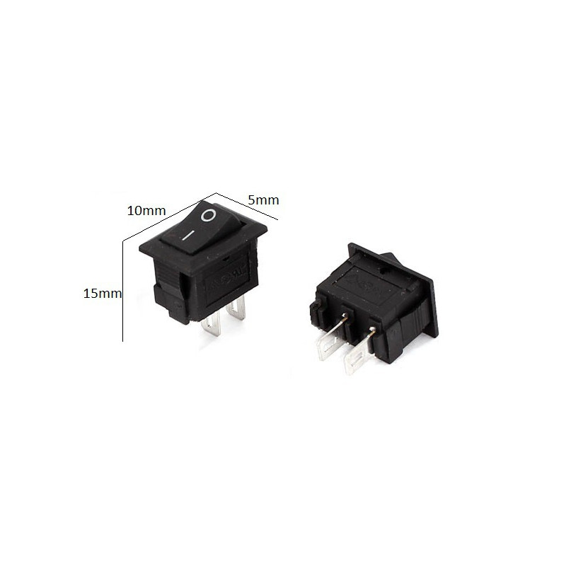 rocker on off switch mini kcd11 3a 250v lee s electronic
