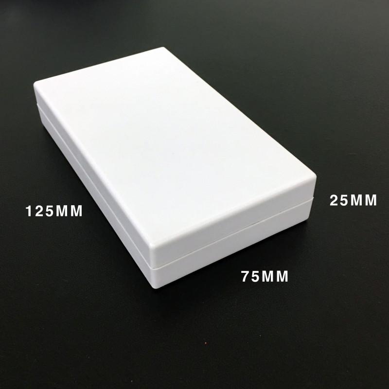ENCLOSURE, PLASTIC BOX 125X73X25MM BEIGE