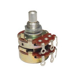 POTENTIOMETER  B100K X2 24MM W/LUGS