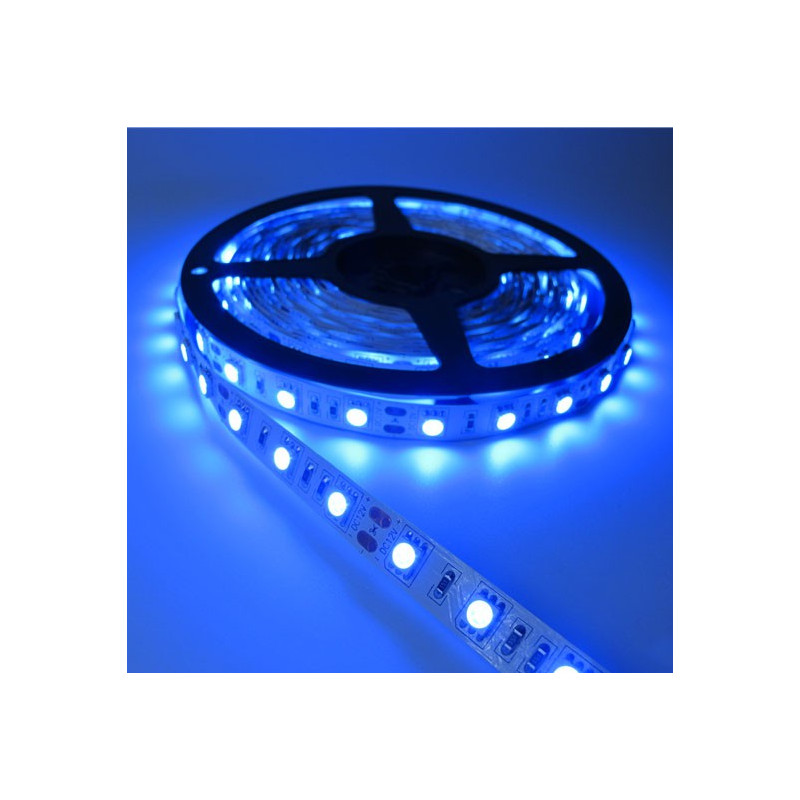 LED STRIP, 5050, 12V, W/O SILICON, BLUE