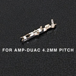 CONNECTORS, AMP-DUAC, (F) PINS, 22-26AWG 10/PKG