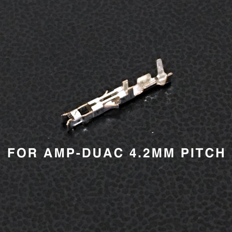 CONNECTORS, AMP-DUAC, (F) PINS, 22-26AWG 10/PKG