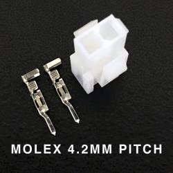 MOLEX PLUG, PITCH 4.2MM, 2 POS W/PINS, 39-01-2021