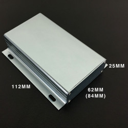 ENCLOSURE, ALUMINUM SHUTTER BOX 112X62(84)X25MM