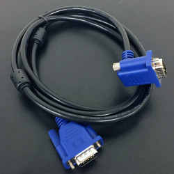 VIDEO CABLE,VGA,M/M, RIGHT ANGLE,90 DEGREES,1.5M