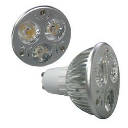 LED SPOT LIGHT, GU10, 110V, 3x1W, WARM WHITE