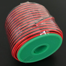 2 CORE WIRE AWG22 R/B (100FT)