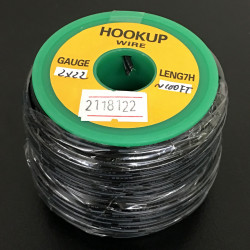 2 CORE WIRE AWG22 B/B (100FT)