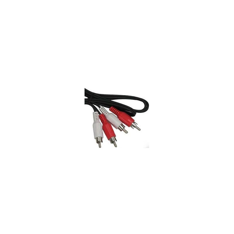 AUDIO CABLE, 2 RCA(M) TO 2 RCA(M), 6M