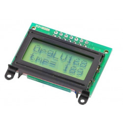 LCD 8X2 CHARACTER - BLACK BEZEL PARALLEL INTERFACE