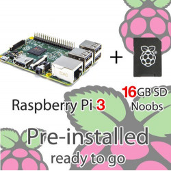 RASPBERRY PI 3 WITH NOOBS 16GB
